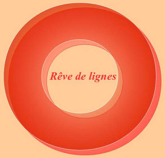 Logo rond avec différentes nuances d'orange.