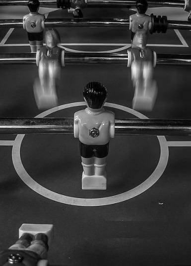 Jésus aime jouer au baby-foot